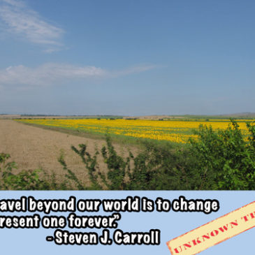 """To travel beyond our world is to change this present one forever."""